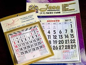 Calendários e Folinhas Personalizadas em Santos