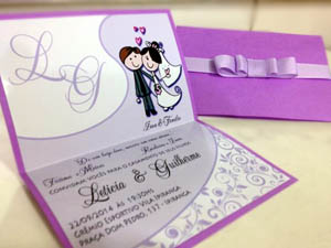 Convites de Casamento Personalizados em Santos